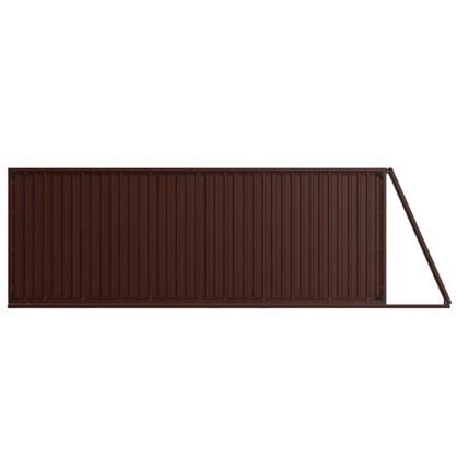 Ворота откатные Doorhan Revolution 4.5х2.2 м цвет шоколадно-коричневый