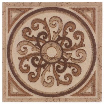Вставка Будапешт 6х6 см цвет коричневый