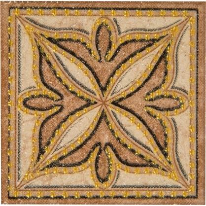 Вставка Корсика 7х7 см цвет коричневый/бежевый