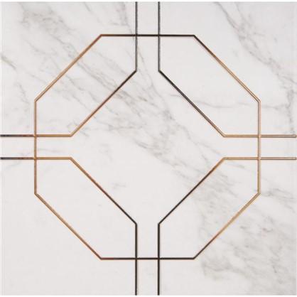 Вставка напольная Marble 42х42 см цвет белый