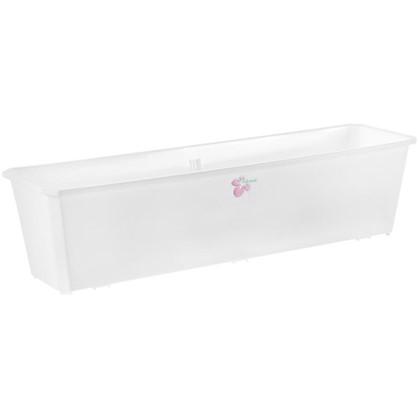 Ящик балконный белый 60 см пластик