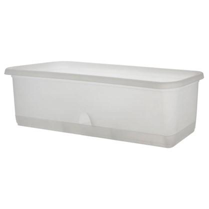 Ящик балконный для орхидей 60 см с поддоном прозрачный пластик