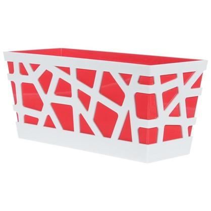 Ящик балконный Мозаика цвет красный