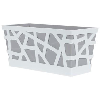 Ящик балконный Мозаика цвет серый