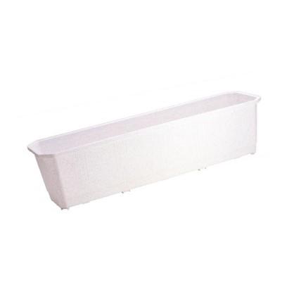 Ящик балконный мраморный 40 см пластик