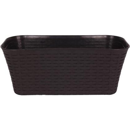 Ящик балконный Ротанг коричневый 40 см пластик