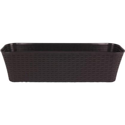 Ящик балконный Ротанг коричневый 60 см пластик