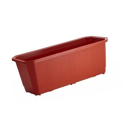 Ящик балконный терракот 40 см пластик