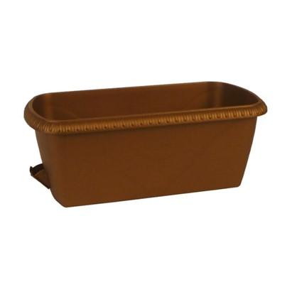 Ящик балконный Жардин коричневый 60 см пластик