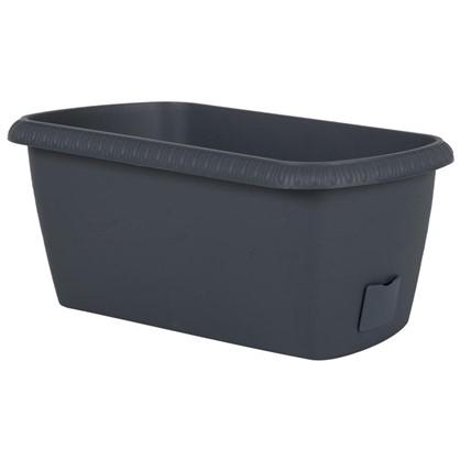 Ящик балконный Жардин серый 40 см пластик