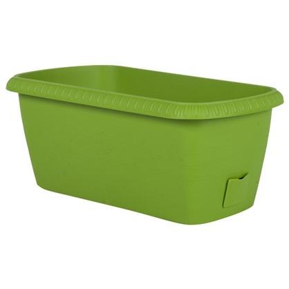 Ящик балконный Жардин зелёный 40 см пластик