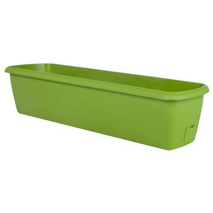 Ящик балконный Жардин зелёный 80 см пластик