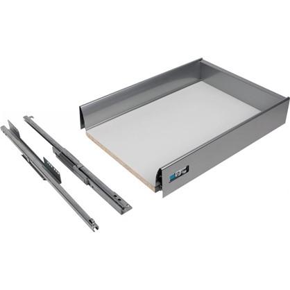Ящик Delinia низкий с доводчиком 29.2х8.5х40 см металл цвет белый