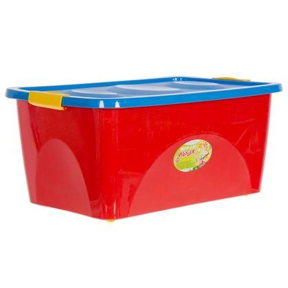 Ящик для игрушек на колесах 600x400x280 см 44 л цвет красно-синий