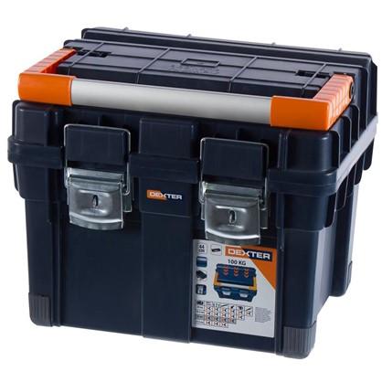 Ящик для инструмента Dexter HD Compact1 450х350х350 мм пластик цвет синий