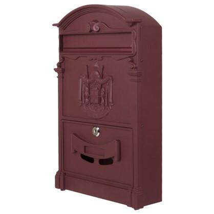 Ящик почтовый Standers MB-002-R алюминий/сталь цвет бордовый