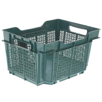 Ящик полимерный многооборотный 40х30х22 см пластик цвет зеленый