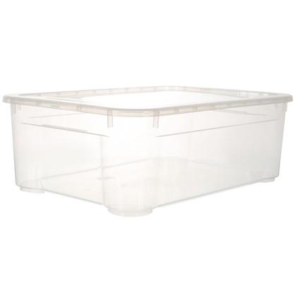 Ящик универсальный с крышкой М 39х19x56 cм пластик цвет прозрачный