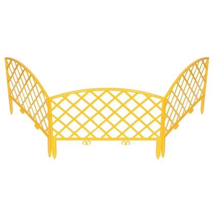 Забор декоративный Плетёнка 3.2 м цвет жёлтый