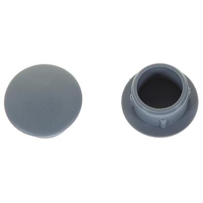 Заглушка для дверных коробок 12 мм полиэтилен цвет серый 20 шт.