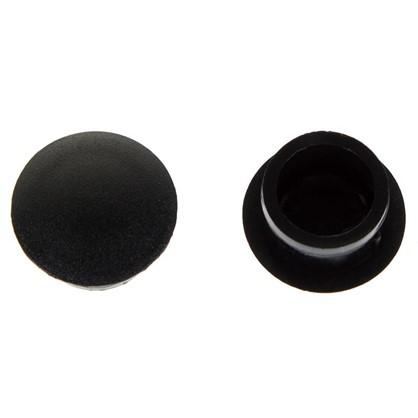 Заглушка для дверных коробок 14 мм полиэтилен цвет черный 20 шт.