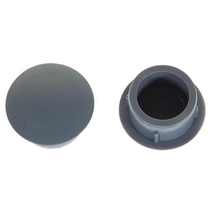 Заглушка для дверных коробок 14 мм полиэтилен цвет серый 20 шт.