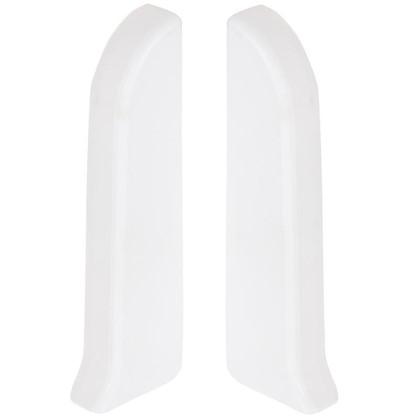 Заглушка для плинтуса левая и правая 86 мм цвет белый 2 шт.