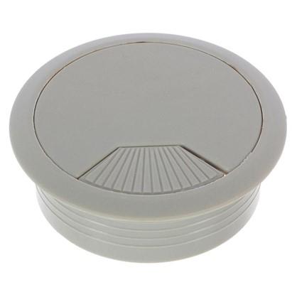 Заглушка кабель-канала Jet AR308P.060GR99 60 мм пластик цвет серый