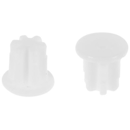 Заглушка на отверстие 5 мм цвет белый 40 шт.