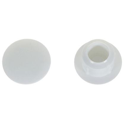 Заглушка на отверстие 8 мм полиэтилен цвет белый 40 шт.