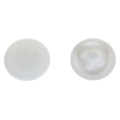 Заглушка на шуруп PZ 3 12 мм полиэтилен цвет белый 50 шт.