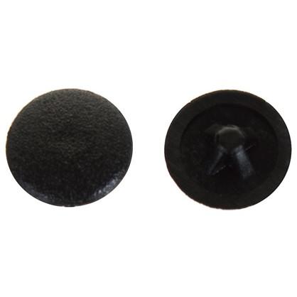 Заглушка на шуруп PZ 3 15 мм полиэтилен цвет черный 50 шт.