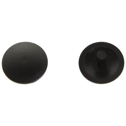 Заглушка на шуруп-стяжку Hex 5 мм полиэтилен цвет черный 40 шт.