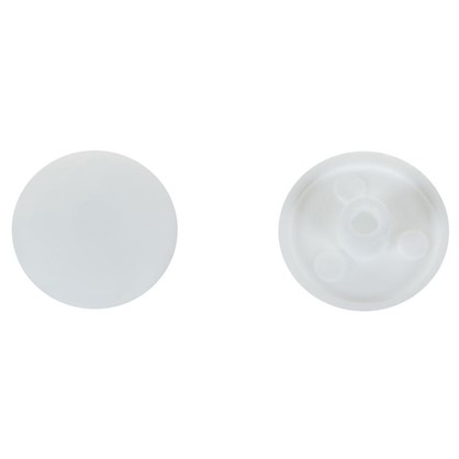 Заглушка на шуруп-стяжку Hex 7 мм полиэтилен цвет белый 50 шт.