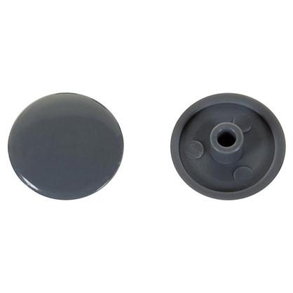 Заглушка на шуруп-стяжку Hex 7 мм полиэтилен цвет серый 50 шт.