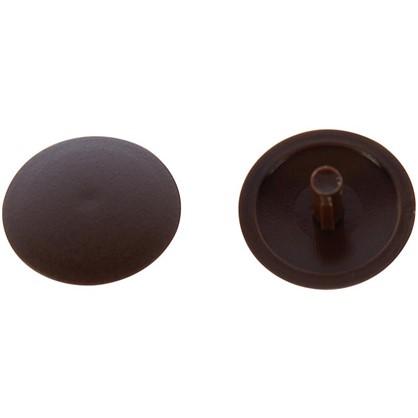Заглушка на шуруп-стяжку PZ 7 мм полиэтилен цвет коричневый 50 шт.