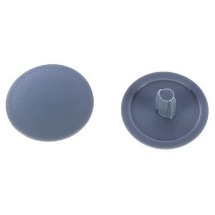 Заглушка на шуруп-стяжку PZ 7 мм полиэтилен цвет серый 50 шт.