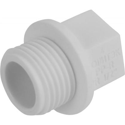 Заглушка резьбовая наружная резьба 1/2 мм полипропилен