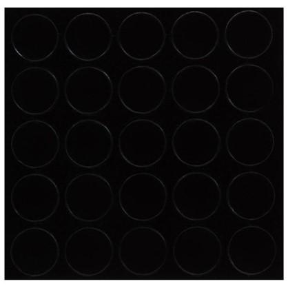 Заглушка самоклеящаяся 14 мм меламин цвет черный 25 шт.