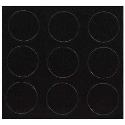 Заглушка самоклеящаяся 18 мм меламин цвет черный 21 шт.
