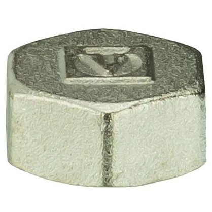 Заглушка Valtec внутренняя резьба 1/2 мм никелированная латунь