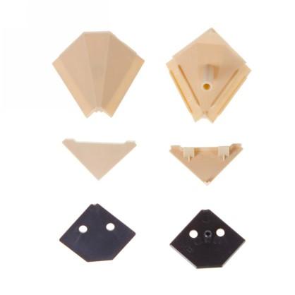 Заглушки к плинтусу 4х5 см цвет бежевый 6 шт.