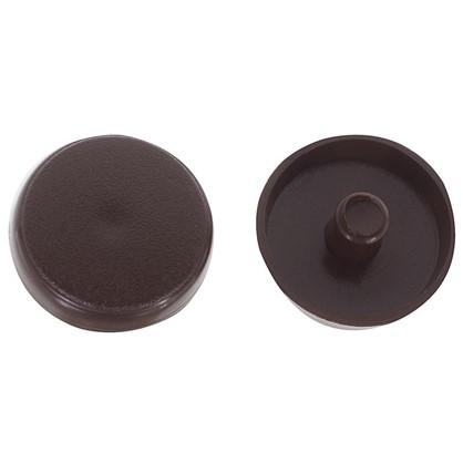 Заглушки рамного дюбеля Element 15 мм пластик цвет темно-коричневый 35 шт.