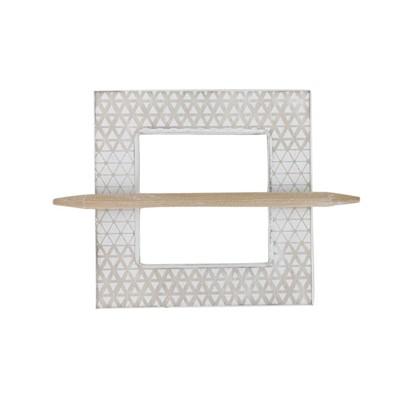 Заколка для штор Миа 14.5х14.5 см цвет натуральный/белый