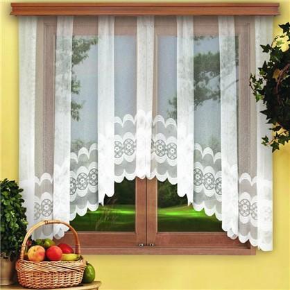 Занавеска для кухни на ленте Нежность 420х165 см цвет белый