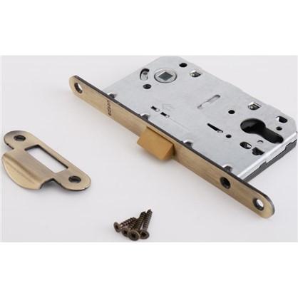 Защелка под цилиндр EDS-50-85 KEY с ключом пластик цвет бронза