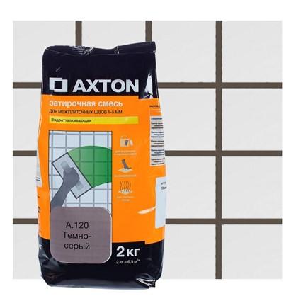 Цементная затирка Axton А.120 2 кг цвет темно-серый