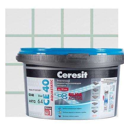Цементная затирка Ceresit СЕ 40 водоотталкивающая 2 кг цвет мята