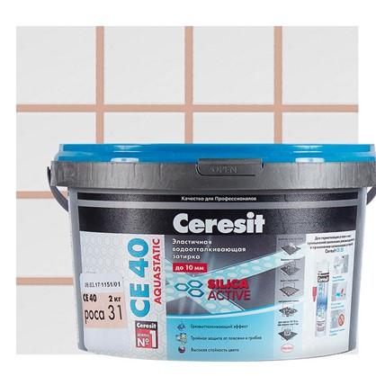 Цементная затирка Ceresit СЕ 40 водоотталкивающая 2 кг цвет роса