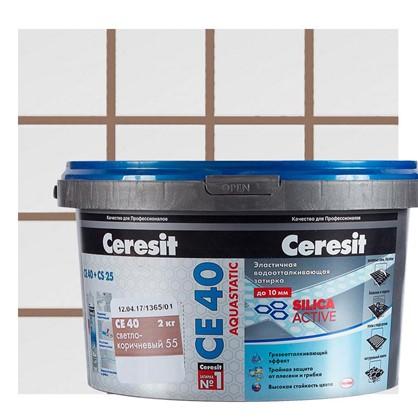 Цементная затирка Ceresit СЕ 40 водоотталкивающая 2 кг цвет светло-коричневый